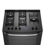 Fogão 5 Bocas Electrolux Prata Automático com Mesa de Vidro e Food Sensor Bivolt (76GRS)