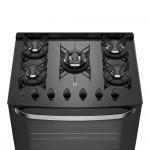 Fogão 5 Bocas Electrolux Automático com Mesa de Vidro e Tripla Chama Prata 76GS Bivolt