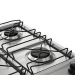 Fogão 5 Bocas Electrolux Prata Automático com Tripla Chama e Forno Easy to Clean Bivolt (76USQ)