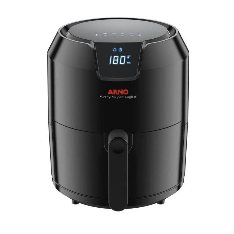 Fritadeira Arno Gfry Super Digital Preta Sem Óleo 127V Capacidade de 4,2L