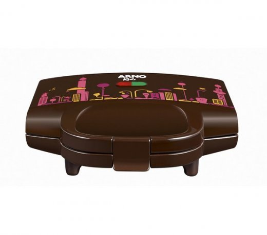 Sanduicheira Arno/ Funkids / KIDF / Compacta / Chocolate / 110V