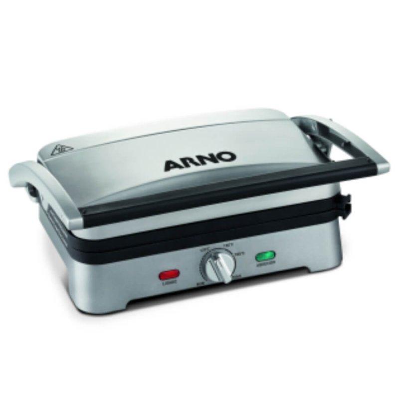 Grill Arno Destacável Premium 220V Inox com Placas Ajustável
