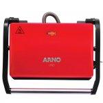 Grill Arno Compacto 220V Vermelho 760W com Placas Antiaderentes