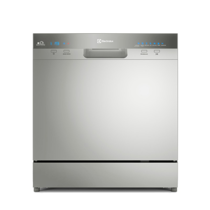 Lava-Louças 8 Serviços Inox Electrolux 127V (LL08S)