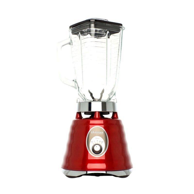Liquidificador Osterizer Clássico Oster 3 Velocidades Jarra de Vidro 1,25L Vermelho 127V
