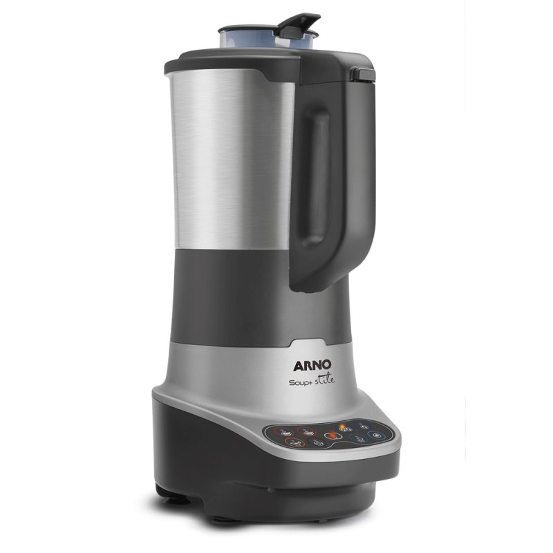 Liquidificador Soup Stile Arno 8 Funções Jarra em Aço Inoxidável 2L Cinza 220V