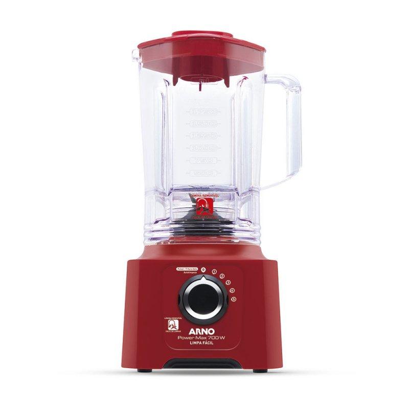 Liquidificador Power Max Arno 5 Velocidades Jarra de 3,1L 700W 127V Vermelho