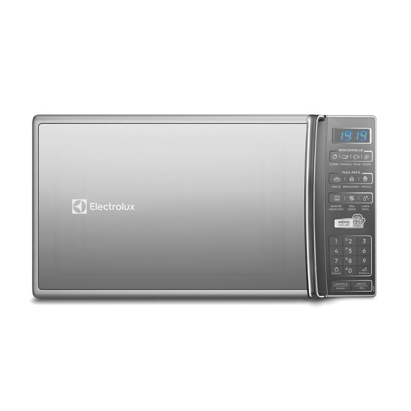 Micro Ondas Electrolux 27L com 55 Receitas pré programadas no Menu Online Prata MS37R 127V