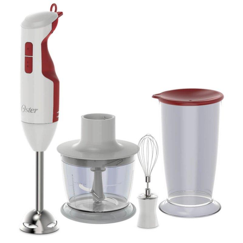 Mixer Oster Delight Branco e Vermelho 127V 3 Em 1 250W De Potência