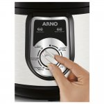 Panela de Pressão Elétrica Arno PP01 220V 1000W em Inox com 7 Programas e 5L de Capacidade