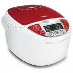 Panela Elétrica Arno Multicooker FC22 127V Branca e Vermelha com 12 Funções Capacidade de 5L