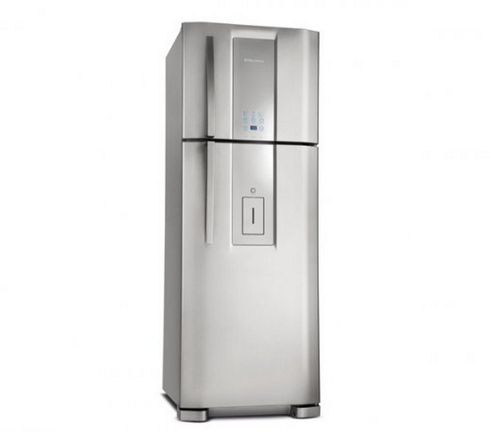 Refrigerador Electrolux Duplex Frost Free DW51X / Dispenser de Água / 441 L / Inox / 110V
