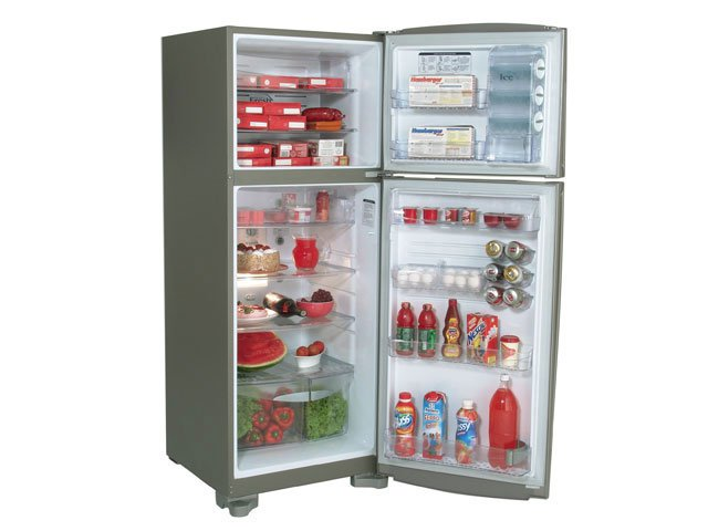 Refrigerador GE Frost Free Eletrônico 380L Titanium / 110V
