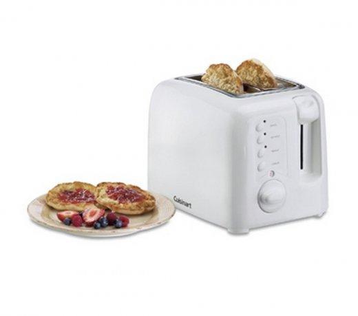 Torradeira Elétrica Cuisinart CPT120 / 2 Fatias / 6 Níveis de Aquecimento / Branca / 220V