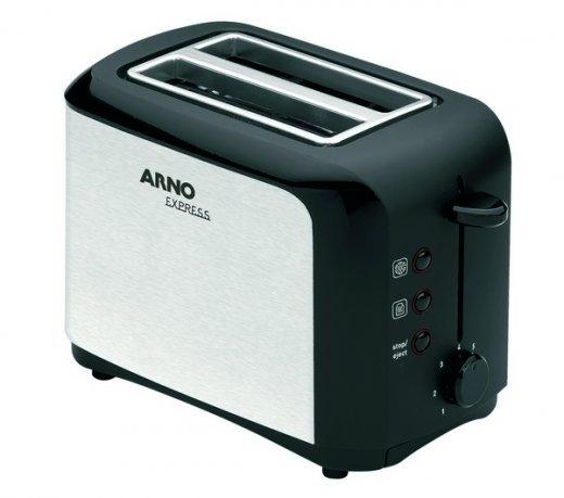 Tostador Arno Express TAEX / Inox com Preto / 110V