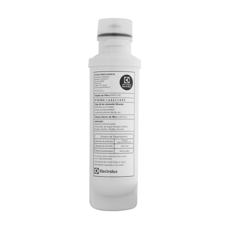 Filtro/Refil de Água para Purificador Electrolux PA10N PA20G PA25G PA30G PA40G