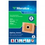 Kit com 3 Sacos Descartáveis Menalux para Aspiradores de Pó (SIM02)