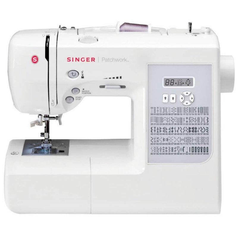 Máquina de Costura Portátil Singer Patchwork 7285 220V Branca e Cinza para Uso Doméstico