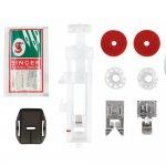 Máquina de Costura Singer Starlet 6660 220V Branca e Verde para Uso Doméstico