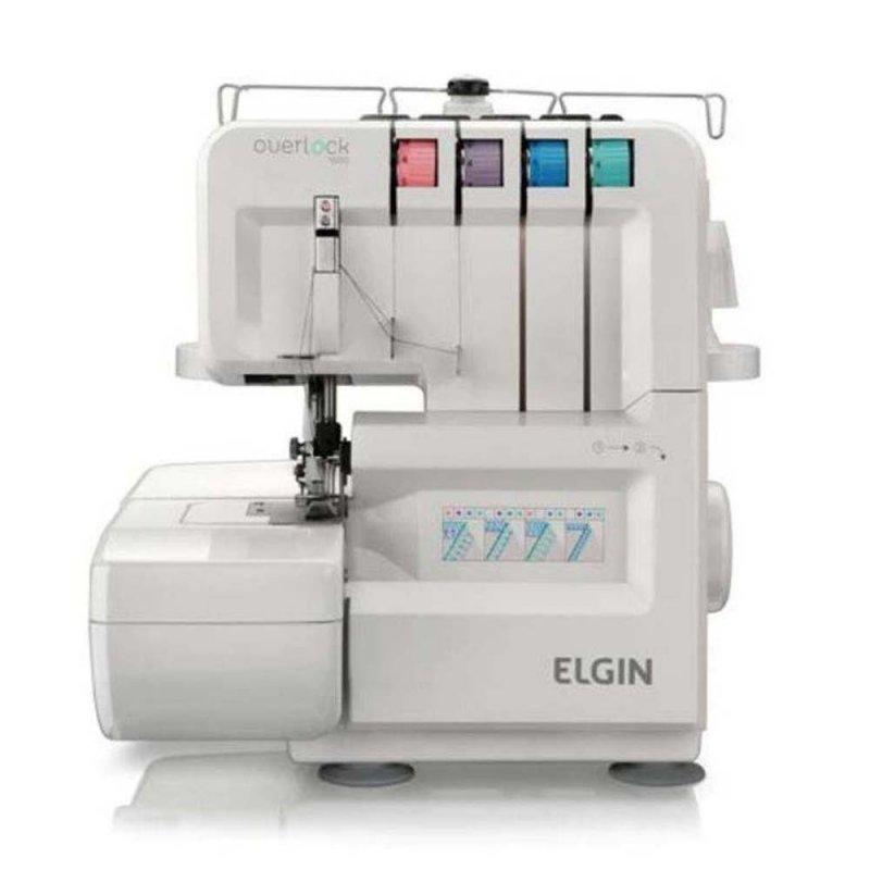 Máquina de Costura Portátil Elgin Overlock 1000 127V