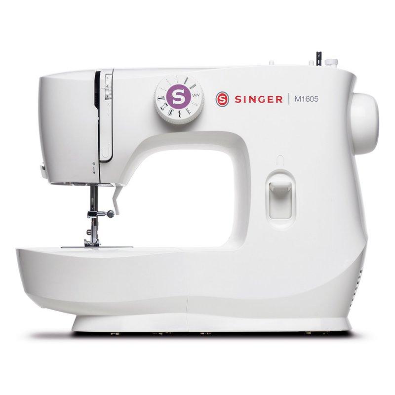 Máquina de Costura Portátil Singer M 1605 127V Branca para Uso Doméstico