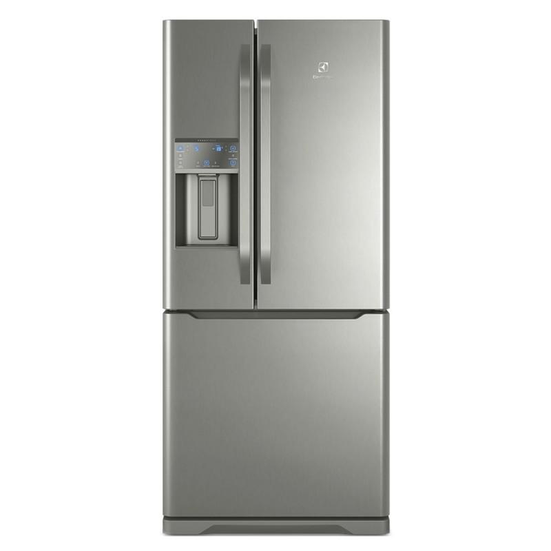 Geladeira French Door Electrolux com Dispense de Agua e Gelo na Porta 538L Inox DM85X 127V