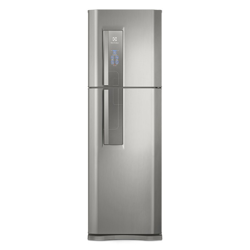 Geladeira Refrigerador Top Freezer Electrolux 402L cor Inox DF44S 127V