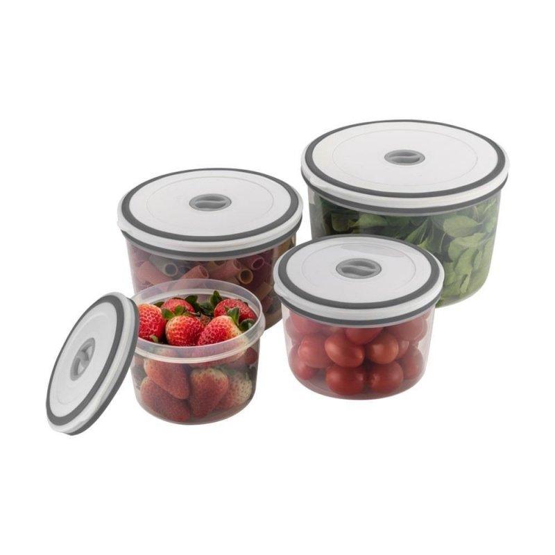 Conjunto de Potes Herméticos de Plástico Redondo Electrolux - 04 Unidades