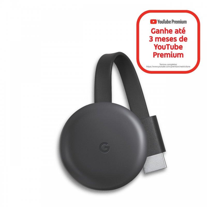 REEMBALADO Chromecast 3 Google para TVs com Porta HDMI Conexão Wifi 1080p Full HD