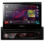 DVD Player Automotivo Pioneer AVH-3180BT Tela Retrátil de 7' Bluetooth USB Entrada Auxiliar