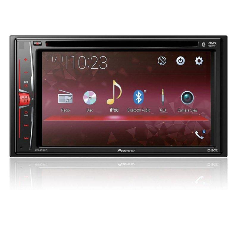 DVD Player Automotivo Pioneer AVH - A218BT 2 DIN Tela Touch 6,2 ´ USB Bluetooth e Controle Remoto Eletronicos Preto