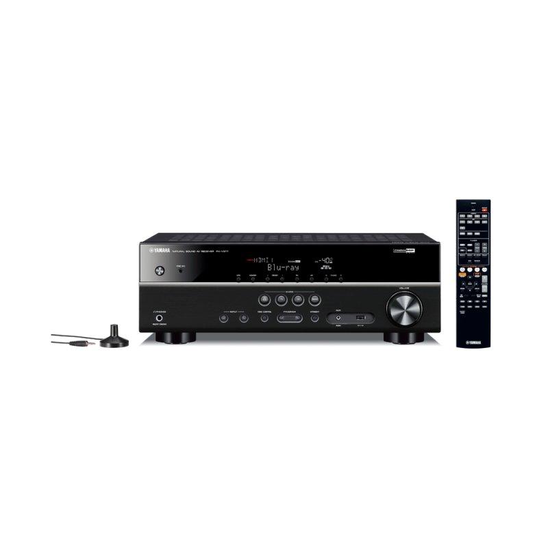 Receiver yamaha rx v377bl bivolt 100w preto usb extra bass for Yamaha tv receiver