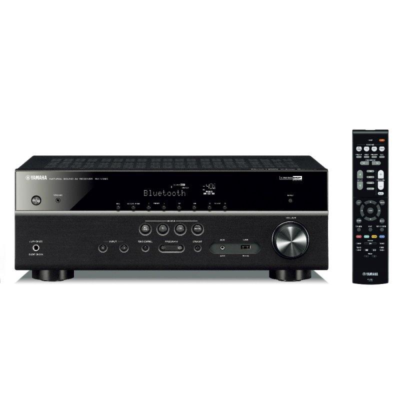 Receiver AV Yamaha RX-V385BL de 5.1 canais 500W 4K Bluetooth USB Bivolt