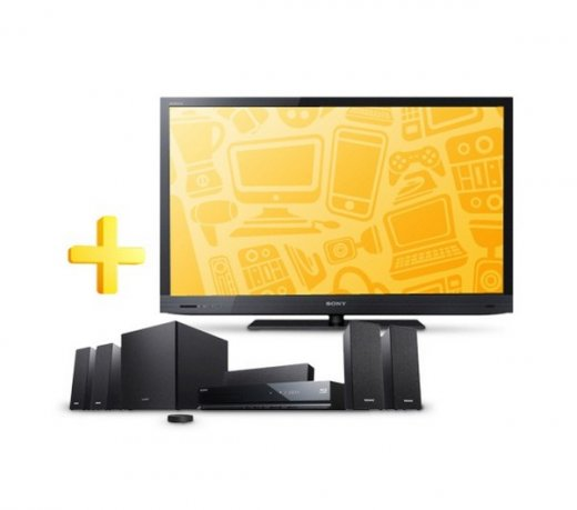 TV LED 60 Sony Bravia / 3D / Full HD / Bravia / Motion Flow 240Hz com  BDV-E280