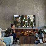 Smart TV Samsung LED 65 UHD 4K UN65NU7100GXZD Visual Livre de Cabos HDR Premium Tizen Wi-Fi 3 HDMI