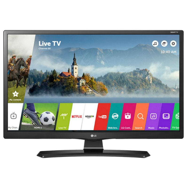 Smart TV Monitor LG 24 ´ LED Wi - Fi webOS 3.5 DTV Time Machine Ready Bivolt 24MT49S Eletronicos Preta