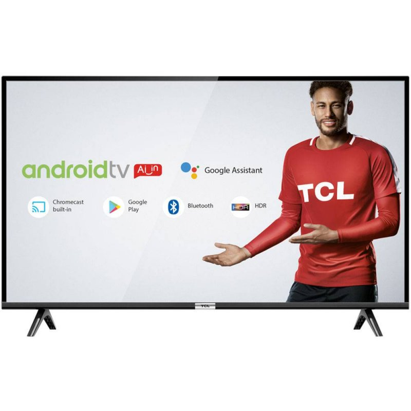 Smart TV LED 40 TCL Full HD HDR com Android TV Wi-Fi Bluetooth 1 USB 2 HDMI