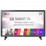 Smart TV Monitor LG 24 LED Wi-Fi webOS 3.5 DTV Time Machine Ready Bivolt 24TL520S Preto