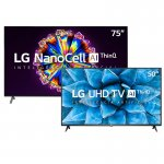Combo Smart TV LG 75 75NO95S 8K IPS NanoCell e Smart TV LG 50 50UN7310 4K UHD