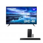 Combo Smart TV Samsung 50 UHD e Soundbar Samsung Bluetooth