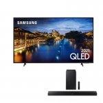 Combo Smart TV Samsung 55 QLED 4K e Soundbar Samsung Bluetooth