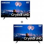 Combo Smart TV Samsung Crystal UHD 4K 50 TU8000 + Smart TV Samsung Crystal UHD 4K 65 TU7000