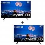 Combo Smart TV Samsung Crystal UHD 4K 50 TU8000 + TV Samsung Crystal UHD 4K 75 TU8000