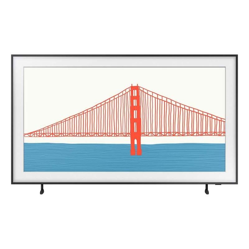 Samsung Smart TV 55 QLED 4K The Frame 2021 55LS03A Design slim, Suporte de parede Slim incluso