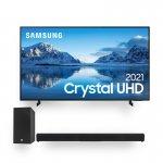 Samsung Smart TV 65 Crystal UHD 4K 65AU8000 e Soundbar JBL Cinema SB160 2.1 canais