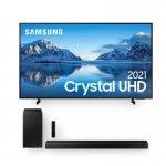 Samsung Smart TV 65 Crystal UHD 4K 65AU8000 e Soundbar Samsung HW-T450 2.1 Canais