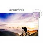 Smart Samsung TV 75 QLED 4K Q70T HDR Wifi HDMI USB Modo Ambiente 3.0 Borda infinita Design com Cabo