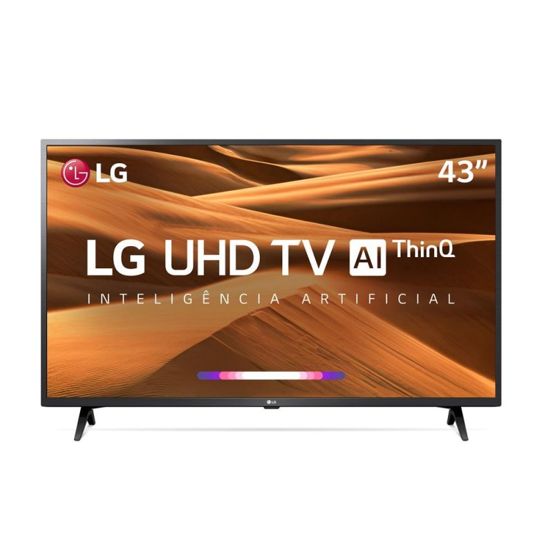 Smart TV LED 43  UHD 4K LG 43UM7300 ThinQ AI HDR Ativo WebOS 4.5 DTS Virtual X
