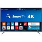 Smart TV LED 58 Philips 58PUG6513/78 Ultra Slim Ultra HD 4k Wi-fi 3 HDMI 2 USB Prata
