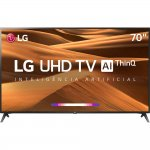 Smart TV LED 70 UHD 4K LG 70UM7370 ThinQ AI HDR Ativo WebOS 4.5 DTS Virtual X